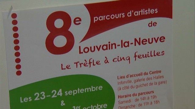 testL'art sous le Trèfle à cinq feuilles à Louvain-la-Neuve!