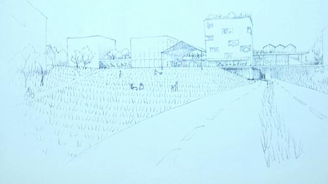 L'Association des Habitants propose un tout autre projet pour l'extension de l'Esplanade à Louvain-la-Neuve