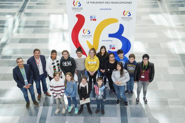 """testL'école communale de Rebecq lauréate du """"Parlement des enfants"""""""