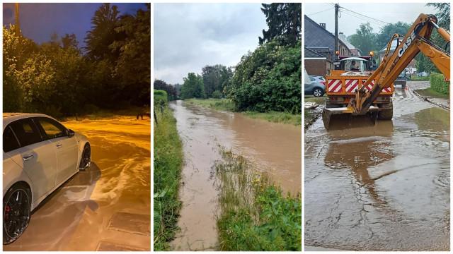 L'orage a frappé cette nuit : Incourt, Chastre et Grez-Doiceau sous eau