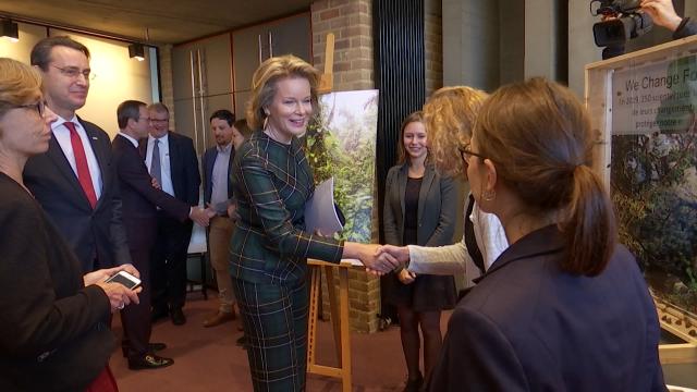 La Reine Mathilde à l'UCLouvain pour la transition