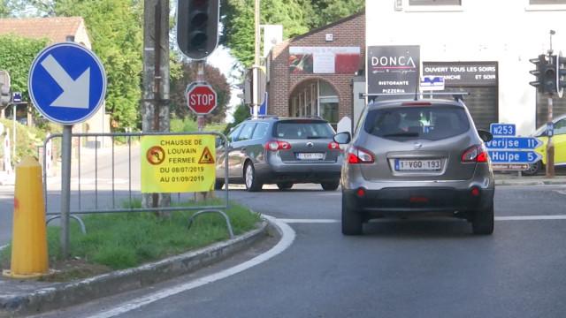 Lasne-Waterloo : la chaussée de Louvain fermée dans les deux sens