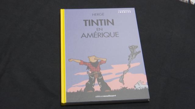 Le musée Hergé expose la version originale colorisée de Tintin en Amérique