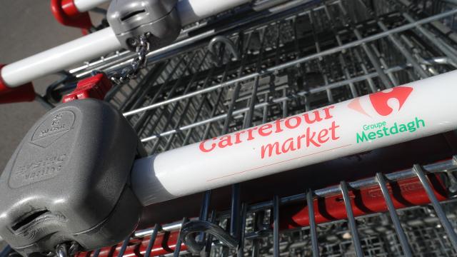 Le personnel du Carrefour de Bierges en grève ce vendredi matin