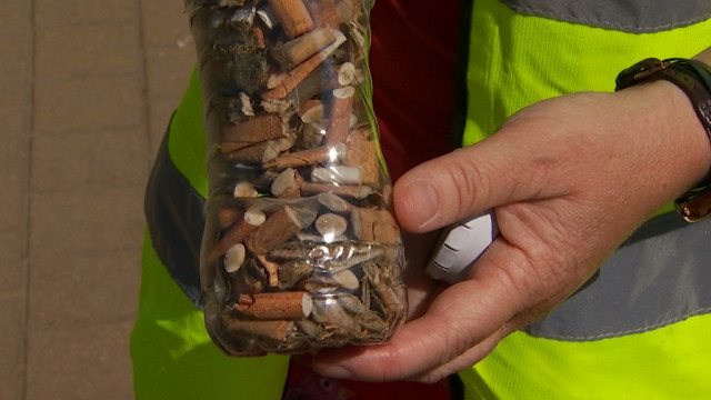testDes milliers de mégots ramassés au lac de Louvain-la-Neuve