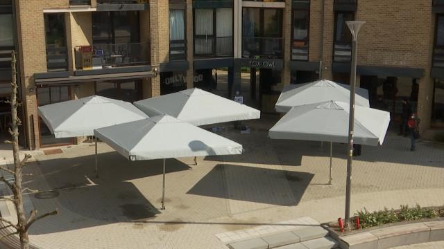 Louvain-la-Neuve : la Place des Wallons est prête pour l'ouverture des terrasses