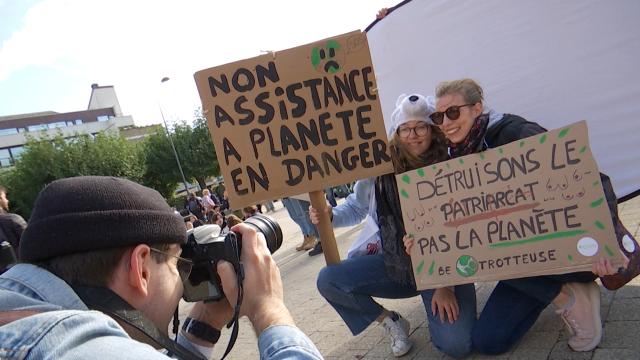 Louvain-la-Neuve : les étudiants manifestent pour remettre le climat au cœur du débat politique
