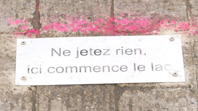 Louvain-la-Neuve : Ne jetez rien, ici commence le lac