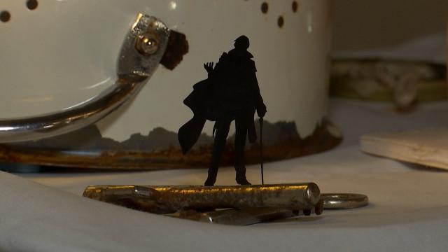 Les silhouettes de Mathieu Huvelle exposées au Gîte Mozaïk de Louvain-la-Neuve