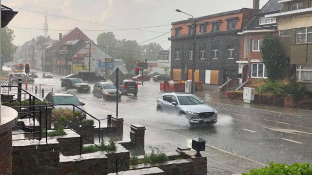 Météo: plusieurs rues de Wavre inondées