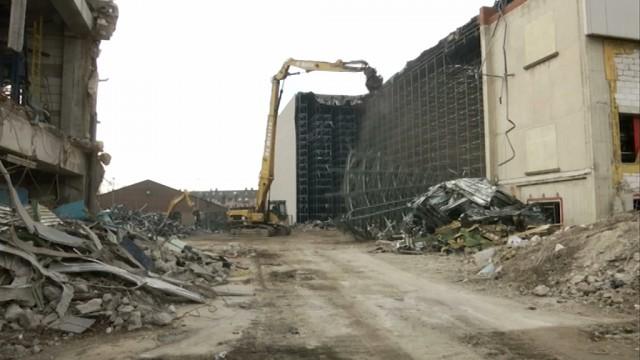 Nivelles : démolition sur le site Arjo Wiggins