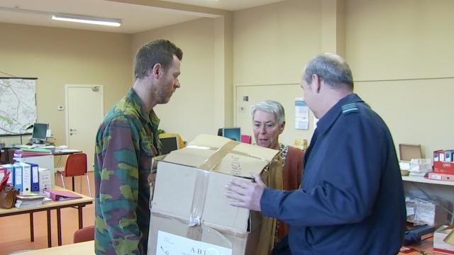 testOpération Hiver à Hélécine : quand l'armée donne son matériel excédentaire