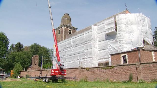 Ramillies : l'église d'Huppaye en travaux après 30 ans d'attente