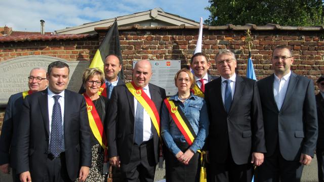 Rebecq : Inauguration d'une plaque commémorative en mémoire aux partisans russes