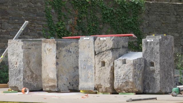 testReconstruire l'arche de l'Abbaye de Villers : un puzzle grandeur nature
