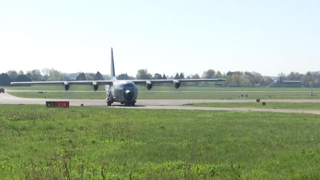 testRetraite à Beauvechain pour le dernier C130 belge
