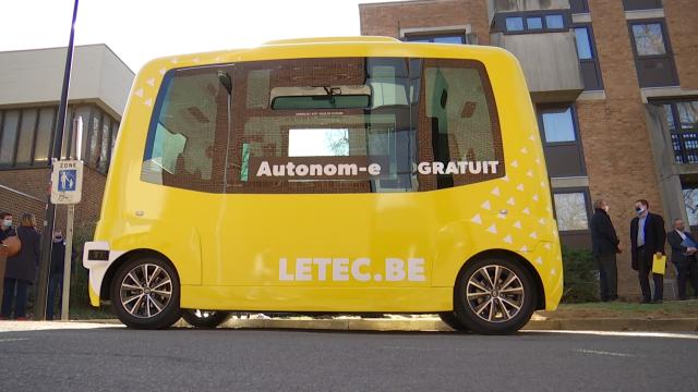 Autonom-e, la première navette autonome en circulation à Louvain-la-Neuve
