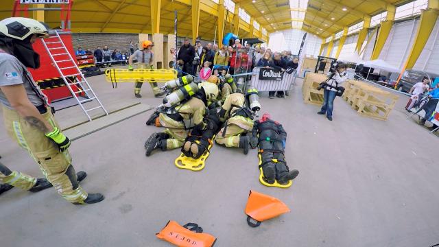 testSurvival Firefighter Run Brabant wallon: 230 pompiers en démonstration ce samedi au PAMexpo