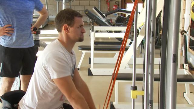 Tennis en chaise : Joachim Gérard prépare sa saison à Mons