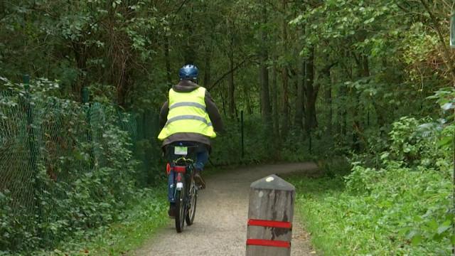 testUn revêtement provisoire pour la piste cyclable du Bois des Rêves