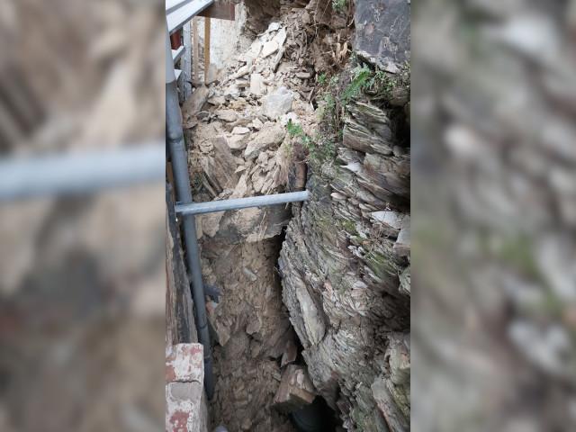 Un pan rocheux s'est effondré sur une maison à Rebecq