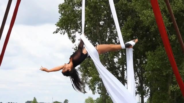 Un spectacle de danse aérienne dans le Brabant wallon