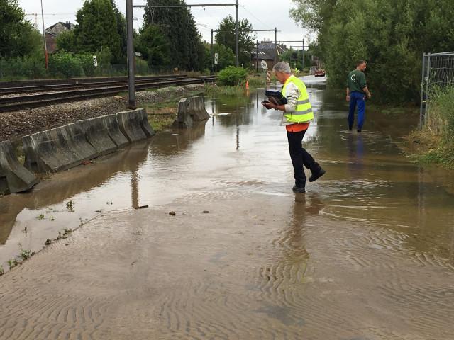 Une conduite de Vivaqua cède : le trafic ferroviaire rétabli à Céroux-Mousty