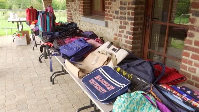 testDonnerie de fournitures scolaires organisée à Chaumont-Gistoux