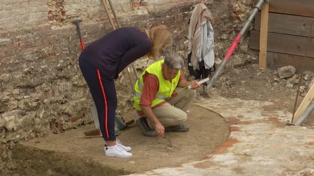 Une tour de l'ancienne enceinte découverte à Nivelles