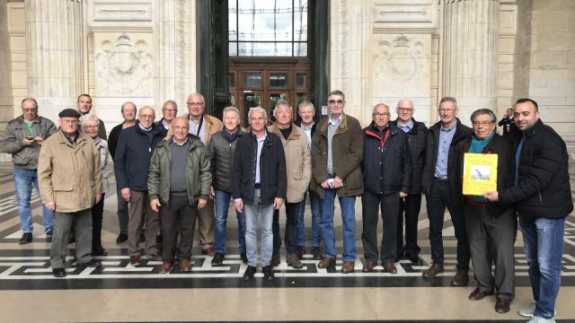 testUne vingtaine d'anciens des Forges de Clabecq présents à la Cour d'appel de Bruxelles
