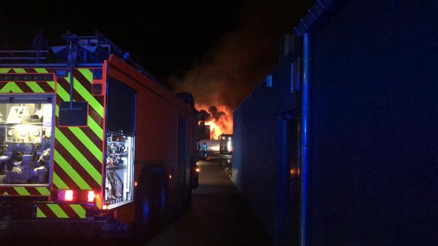 Violent incendie derrière l'ancienne gendarmerie de Jodoigne
